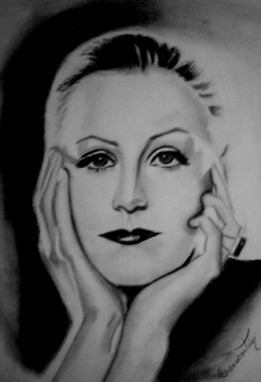 Greta Garbo by Li_Sa